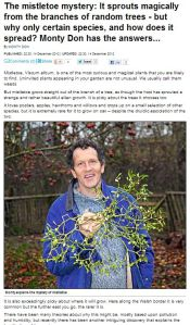No he doesn't - Monty Don gets the answers wrong