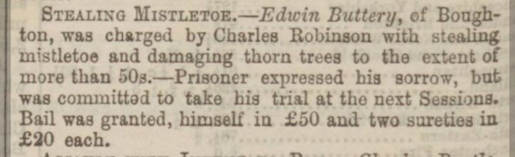 Sheffield Daily Telegraph 30 Dec1869 Theft Worksop