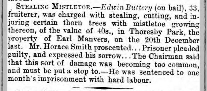 Sheffield Independent 11 Jan1870 Theft again