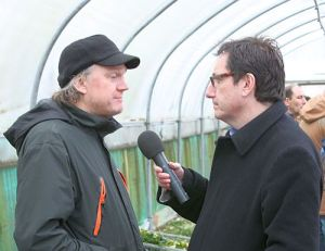 Nick from Intermistletoe, and Vernon Harwood from Farming Today. Not the most flattering portrait of either of them!
